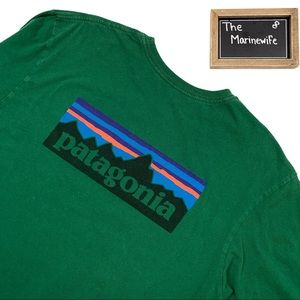 Patagonia Green Crewneck Long Sleeve Shirt